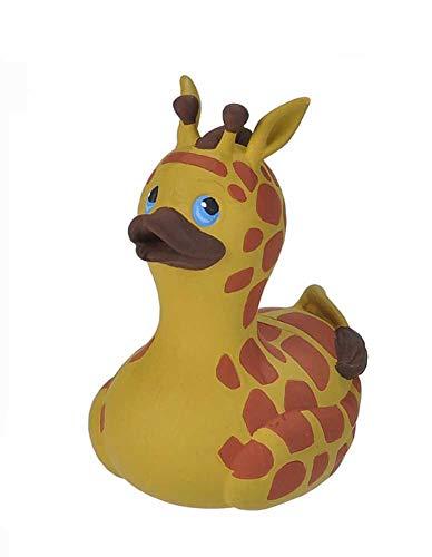 Wild Republic Rubber Duck, Gummiente, Giraffe, Badewannen-Geschenke für Kinder, Quietscheentchen, Badespielzeug für Babys, Gummiente lustig, Badeente zum Sammeln, 10 cm