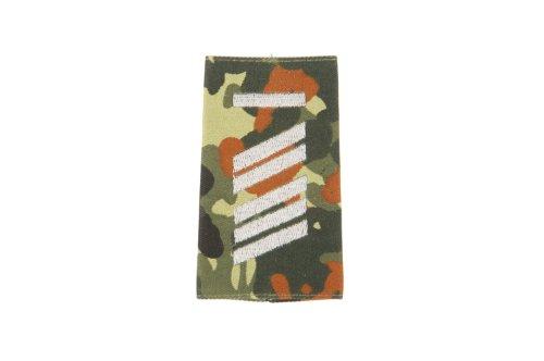 1 paire d'insigne militaire de la Bundeswehr (camouflage/argent) - Dragonne - Insigne - Divers niveaux de service XL UA sans barre supérieure