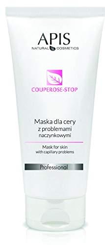 APIS COUPEROSE-STOP Maske für die Haut mit Couperoseproblemen mit Vitamin C, Kiwi, Zitrone, Hundrose, Ginko | Linderung der empfindlichen Couperose-Haut | 200 ml
