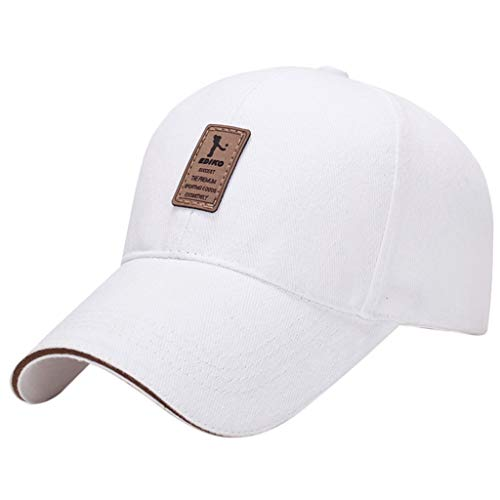 FAplu帽子、ユニセックス黒野球帽帽子ヒップホップ調節可能な少年帽子夏のおでかけ太陽帽子 (白)