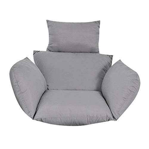 Cojines antideslizantes para silla mecedora tamaño grande, color gris