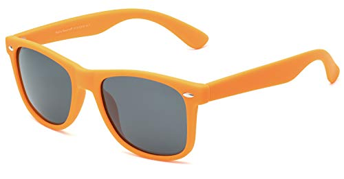 Retro Rewind Classic Polarized Sunglasses, Orange | Smoke Polarized