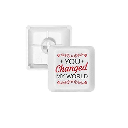 U veranderde Mijn Wereld Valentijnsdag PBT Keycaps voor Mechanisch Toetsenbord Wit OEM Geen Markering Print R1 Multi kleuren