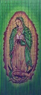 Virgin Mary Beaded Curtain 125 Strands (+hanging hardware)
