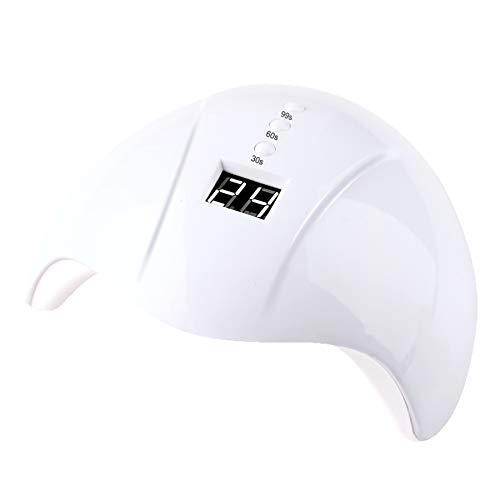 MODRYER Luz del Clavo del LED, 36W Secador De Uñas De Curado Rápido En Gel De LED, con 3 Preajustes De Temporizador (30/60 / 99S) Gel De Pulido Y De Curado,White