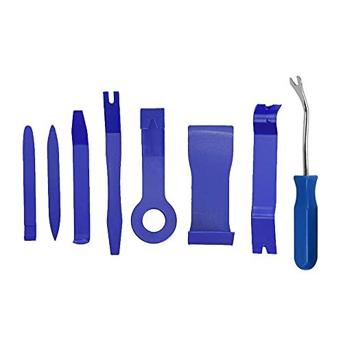 SDFF Herramientas Kit Desmontar Coche, 8 Piezas Kit de Desmontaje del Panel del Automóvil, Herramienta de Desmontaje, para Desmontar el Audio del Coche y Quitar la Tapicería del Vehículo