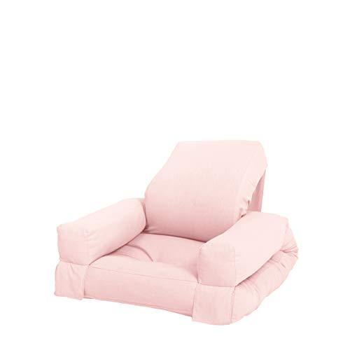 Karup Design Pink Mini poltrona per bambini Hippo, sedia futon e letto per la cameretta dei ragazzi, in 7 scelta, colore rosa Tensioni. Ripetere, 80% cotone + 20% poliestere, B:65 T:70 H:40