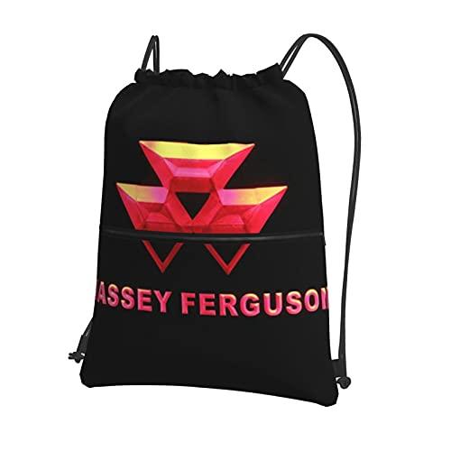 Massey Ferguson - Mochila deportiva para hombre y mujer, con cordón, para playa, viajes, senderismo y actividades deportivas