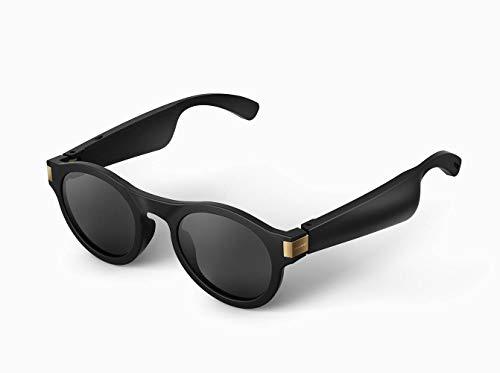 WNZL Auriculares Bluetooth Gafas de Sol, Montura Ultraligera de Altavoz de transmisión direccional, Lentes Intercambiables, Auriculares con micrófono Incorporado, música, Llamada telefónica