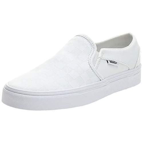 Vans Asher, Sneaker Donna, Bianco ((Checkerboard) white/white W51), 37 EU
