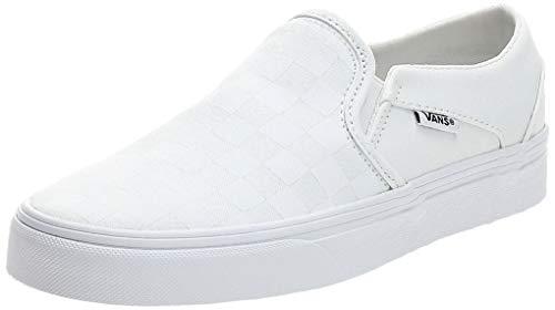Vans Damen Asher Sneaker, Weiß ((Checkerboard) White/White W51), 40.5 EU