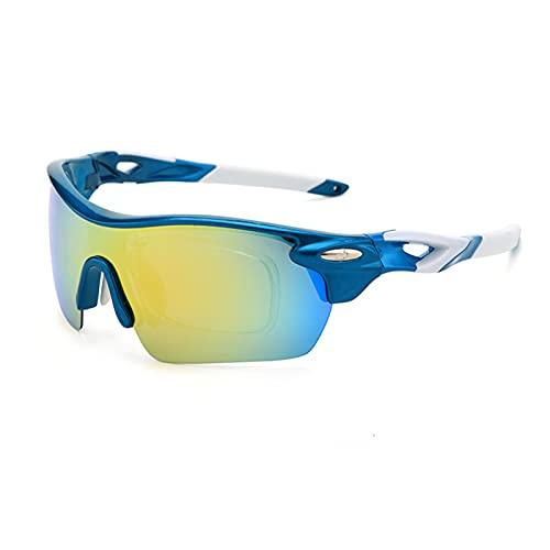 AESHW Gafas de Sol de Ciclismo para Hombres, Gafas de Sol polarizadas con Gafas de Sol Deportivas Anti-UV protegen para Conducir, Correr y Actividades al Aire Libre Style 4