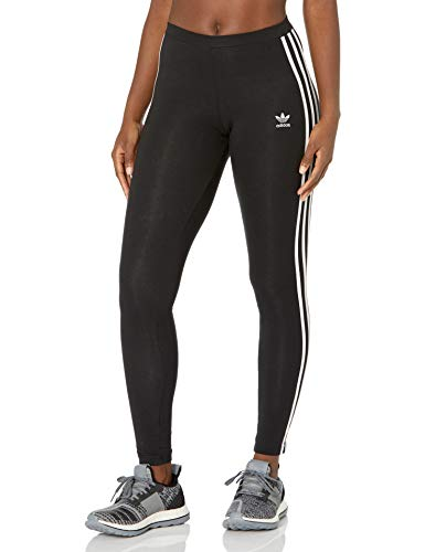 adidas Originals Women's 3 Stripes Legging, Black, L