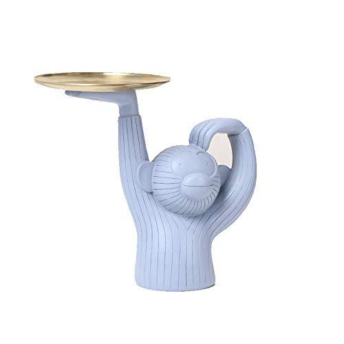 Fruit Basket Bowl Holder singe Dessert Support Cupcake Stands, Plateau métal Alimentation Serveur Présentoir Buffet Snack bonbons Bijoux affichage Tour for salle à manger, salon, chambre, Magasin, Gri