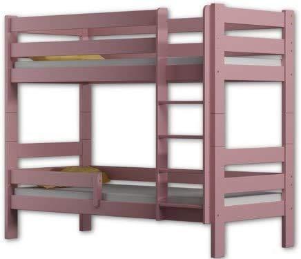Hergestellt von der Qualität Kiefernholzetagenbettrahmen zwei Schläfer 180x80cm,Pink