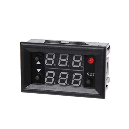 BIlinli 12V Timer-Verzögerungsrelais-Modul Digitale LED-Anzeige Zyklus 0-999 Einstellbares Relais