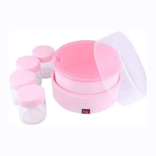 XJJZS Máquina automática Yogur-Digital Yogur Maker con 4 tarros de Vidrio Contenedores, Frescos, sanos en casa del Yogur