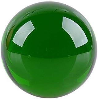 クリスタル クリア ボール 水晶球 水晶玉 多色透明 クリスタルボール レンズボール 装飾品(40mm,グリーン)
