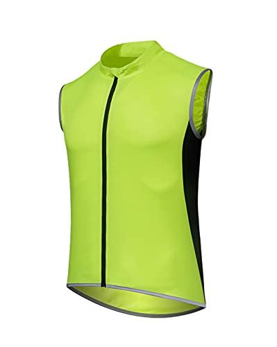 LGZY Hombres y Mujeres Chalecos de Ciclismo sin Mangas de Malla Transpirable Ciclismo Escalada Correr Chalecos de equitación para Correr, Ciclismo o Deporte,Verde,S