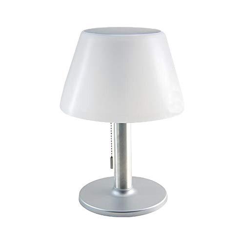 Hochwertige Solar-Außen-Garten-Tisch-Leuchte-Lampe JOLLA mit Zugschalter drei Helligkeits-Stufen IP44, Dämmerungs-Sensor, Balkon-Terrassen-Camping-Party-Fensterbank-Lampe