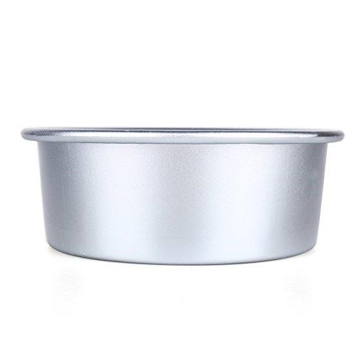 Yosoo Moule à gâteau rond profond anti-adhésif en alliage d'aluminium 10,2 cm/12,9 cm/15,2 cm/20,3 cm/22,9 cm
