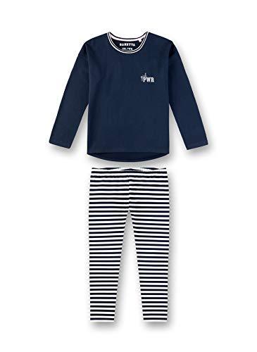 Sanetta Mädchen Pyjama Zweiteiliger Schlafanzug, Blau (Navy 5172), (Herstellergröße: 140)