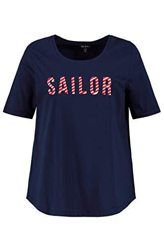 Ulla Popken Damen große Größen T-Shirt Marine 62/64 727478 70-62+
