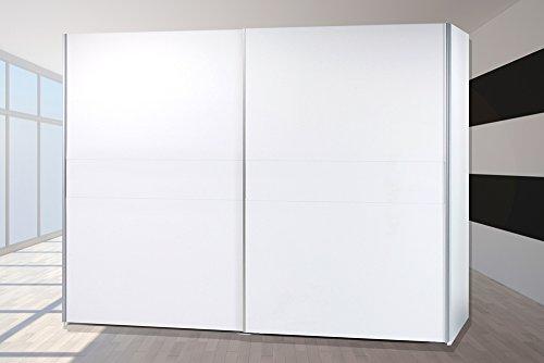 BEGA - Armadio con ante scorrevoli York, 270 cm, colore: Bianco alpino