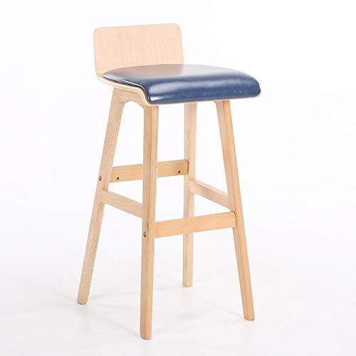 Qjifangyizi Kruk, hoog, stoelen van hout, voor café, barhek, van massief hout, gestoffeerd, met rugleuning van hout