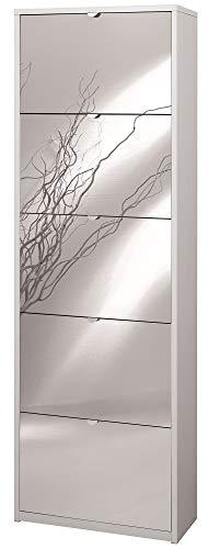 Sarmog Kit SCARPIERA 5 Ante A RIBALTA con Specchio Frontale H190 L63 P29 Cm Finitura Bianco Sk565spk