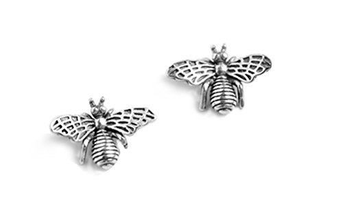 FarryDream 925 Sterling Silver Cute Bumble Bee Earrings Studs for Women Teen Girls Animal Earrings (Bee Earrings)
