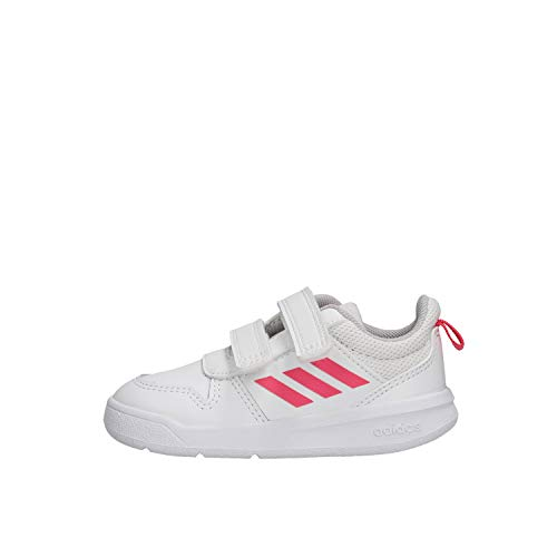 Adidas Unisex Baby Tensaur I Sneaker, FTWWHT/REAPNK/FTWWHT, 25 EU