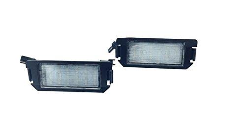 TMT LEDS (TM) Plafones LED Matricula compatible con Hyundai Coupe i20 Veloster Kia Picanto Soul Rio 3 Homologado E4 CE Luces LED