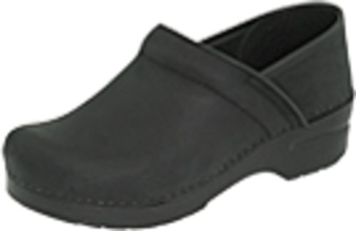 Dansko Women's Professional Black Oiled Clog 9.5-10 M US