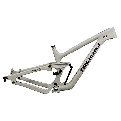 ICANIAN P1 27.5+/29er Carbon Full Suspension Mountain Bike Frame BSA Bottom Bracket Carbon MTB Boost Frame Khaki/Blue