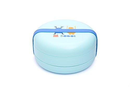 Suavinex - Set Platos BOOO +4 Meses. Capacidad 2 Comidas. Apto Para Microondas y Lavavajillas, Color Azul