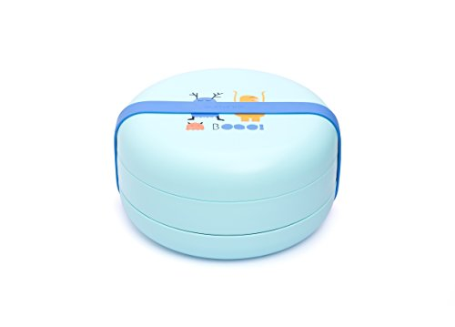 Suavinex Booo Set d'Assiettes Combinables Bleu 4+ Mois
