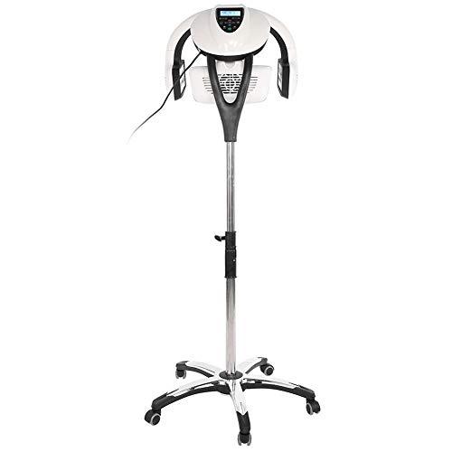 secador Casco, 800W-950W 220V LCD Professional Salon Hair Steamer Stand con Temperatura Ajustable Secador de Pelo Calentador Teñido Perming Máquina de Tratamiento de Aceite