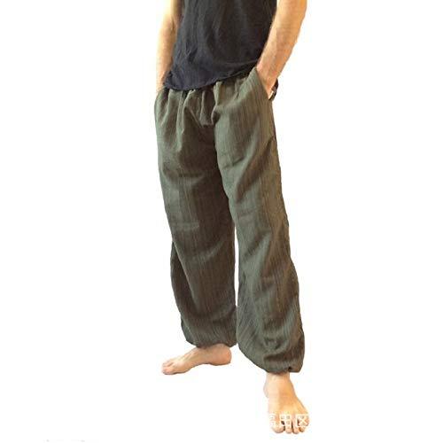 Pantalones Casuales Finos y Suaves para Hombre, Cintura elástica, Pantalones Casuales de Ajuste Relajado y cómodo, con un Sentido de no moderación Large