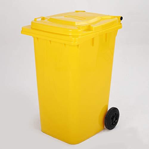 maxpack® Mülltonne - Müllbehälter - Abfalltonne 120 Liter EN 840-1 in gelb