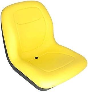 Bucket Seat Vinyl Yellow Compatible with John Deere 4310 8875 4300 655 655 70 4410 4700 4500 4400 240 755 7775 4200 4210 4610 5105 4600 855 955 890 5205 4710 4510 Caterpillar 226 242 216B Komatsu