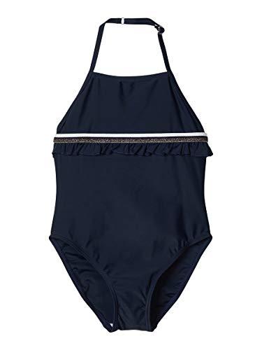 NAME IT Mädchen NKFZASHANA Swimsuit Badeanzug, Dark Sapphire, 110-116