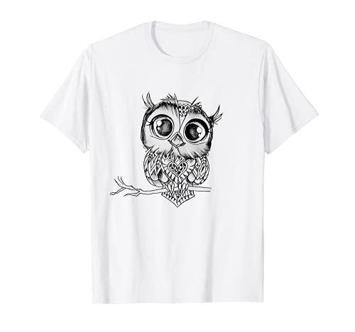 divertido búho geométrico mandala para hombre mujer camiseta Camiseta