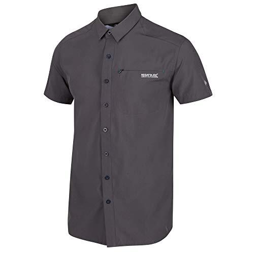 Regatta Chemise KIOGA II légère et Respirante avec aération au Dos et Poche Poitrine Shirts Homme, Magnet, FR : 3XL (Taille Fabricant : XXXL)