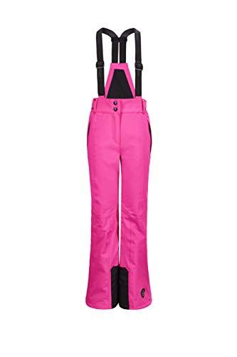 Killtec Mädchen Gandara Jr Funktionshose Mit Abzippbarem Latz, Schneefang Und Kantenschutz, neon pink, 116