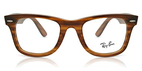 Ray-Ban Wayfarer Ease Gafas, Striped Red Havana, 50 Unisex