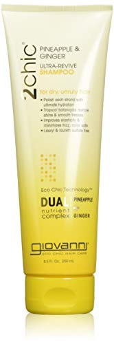 Giovanni Cosmetics 2 Chic Ultra-Revive Shampoo, Pineapple & Ginger Shampoo 8.5 Oz