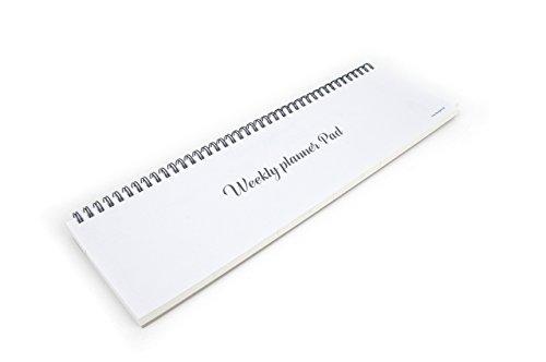 Fun Design Fair Tischkalender–Drahtkammbindung, undatierter Wochenplaner weiß
