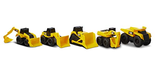 Caterpillar by Funrise 82150 Little Machines Caterpillar, CAT Kleine Maschinen 5er-Pack Baufahrzeug Kinder, Gelb
