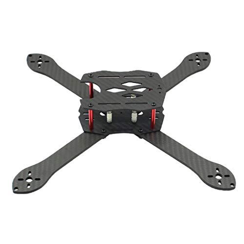 Baoblaze Telaio per Drone da 300 Mm Racing Kit Telaio Quadricottero 7 Pollici in Fibra di Carbonio Bracci da 4 Mm con Cinturino per Batteria Lipo